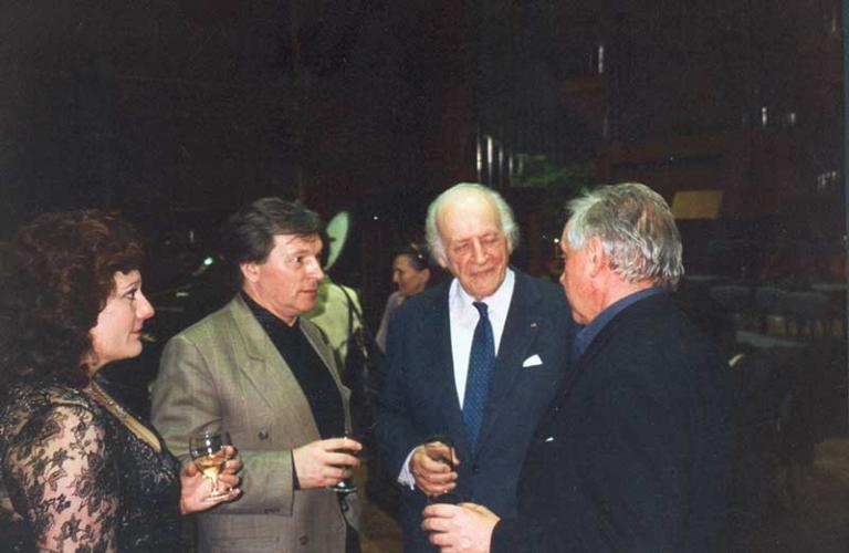 Rolf Liebermann, Suzan Owen, Frederic Sartor i Zygmunt Krauze, Maison de la Radio, Paryz, 1995