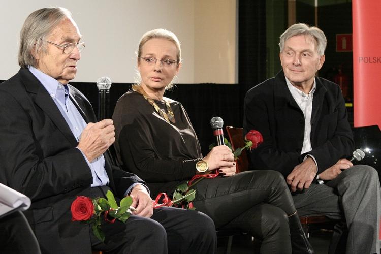 Jerzy Rutowicz, Monika Stefanowicz i Zygmunt Krauze na premierze cyfrowej rekonstrukcji filmu
