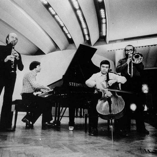 Music Workshop: Czeslaw Palkowski, Zygmunt Krauze, Witold Galazka, Edward Borowiak, Warsaw Philharmonic, 1968