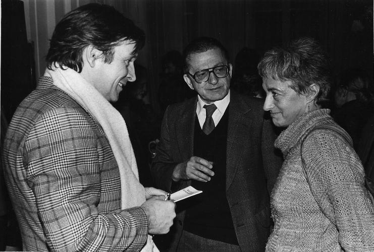 Zygmunt Krauze, Ryszard Stanislawski, Nika Strzeminska; Wernisaz