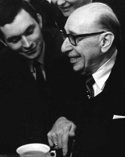 Igor Strawinski i Zygmunt Krauze, Warszawa, 1964